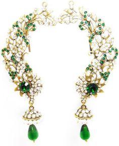 MKJewellers Peacock Ear Cuffs 6944 Brass Cuff Earring