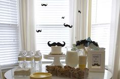 mustache birthday party | flying mustaches we love this idea of suspending mustaches from the ...