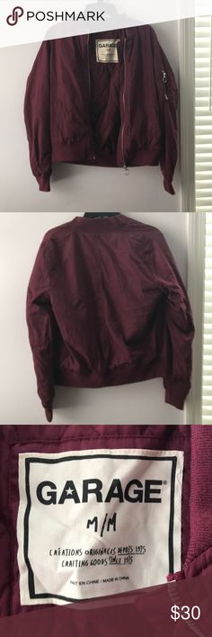Winter garage plum jacket This jacket is perfect for the cold days! Worn once, too small for my long arms. In perfect condition! Garage Jackets & Coats Puffers