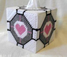 Portal 2 Companion Cube tissue cozy