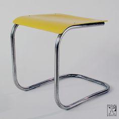 Cantilever tubular steel stool - STYLE:Bauhaus  DESIGNER: Mart Stam