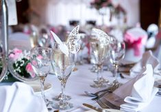 Gorgeous paper butterflies details on this wedding table by Glass Slipper Weddings
