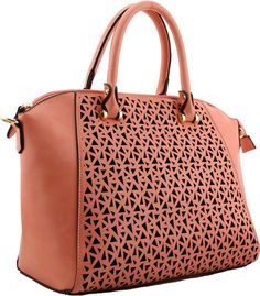 Peach Laser Twin Handle Tote