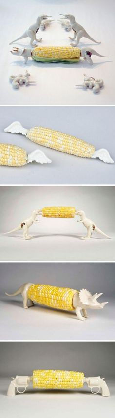 Sweetest Corn on the cob holders ever !!!