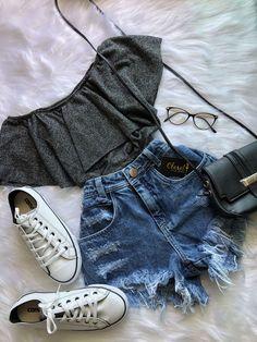 Cute Summer Outfits, Cute Casual Outfits, Pretty Outfits, Stylish Outfits, Fall Outfits, Casual Clothes, Casual Shoes, Outfits 2016, Casual Jeans