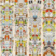 Papier mural par le duo néérlandais Studio Job www.studiojob.be http://www.moooi.com/designers/studio-job