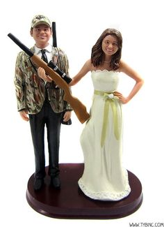 Hunting Wedding Cake Toppers...so have to do this
