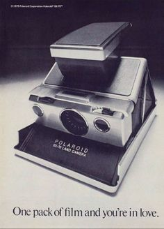 I loved my polaroid camera.  Instant photos.  Who could beat that at the time?