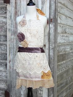 Lace Handmade Apron by VintageChicCouture love this@