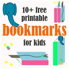 10+ Free printable bookmarks for kids - ausdruckbare Lesezeichen - links   MeinLilaPark