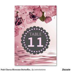 Número cor-de-rosa da mesa de borboletas das
