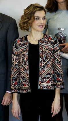 Queen Letizia of Spain Just Perked Up Her All-Black Look With This 1 ...