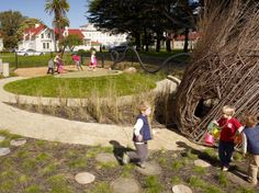 Cow Hollow School Natural Playscape, San Francisco California, Surface Design, 2010 - Playscapes