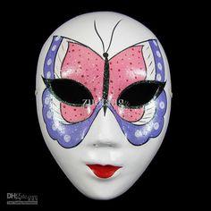 Best Masquerade Masks Decorating Venetian Full Face Chinese Mache ...