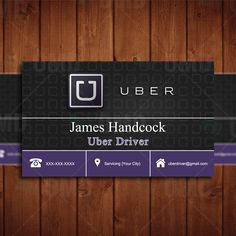 Creative Uber Business Card - Everyone's Private Driver by CreativeEtsyDesigns on Etsy
