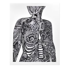 Anatomical Breasts Print, by Artery Ink