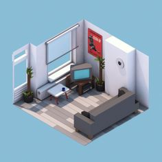 30renders 24 620x620 30 Awesome Isometric Renders By Michiel van den Berg