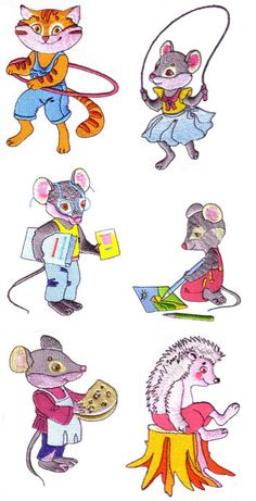 Furry Animals 2 by Glenn Harris Embroidery OUT-F2F - $3.00 : Embroidery Passbook Mall, Instant download Embroidery Designs