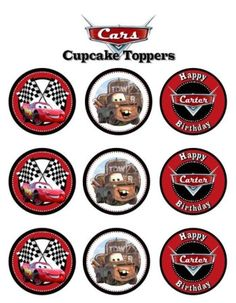 Items Similar To Disney Cars Cupcake Toppers Custom Printable On Etsy