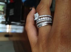 Engagement Ring, Wedding band & a band for each child