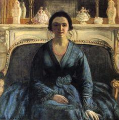 The Athenaeum - Blue Gown (Frederick Carl Frieseke - )