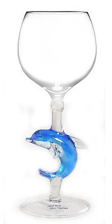 coastal inspired wine glass