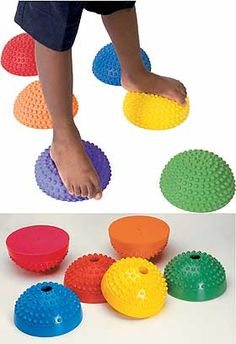Balance Stones.  What a fun way to play with the kids and to increase coordination and balance!!