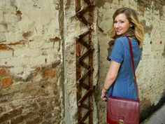 Chambray Dress + Burgundy Satchel // fall style