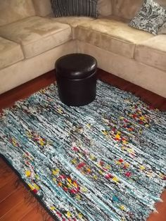 Pendleton Wool Rug Handwoven Multi Blue by treeoctopusdesigns, $150.00 Pendleton Wool, Wool Rug, Hand Weaving, Projects To Try, Rugs, Blue, Etsy, Furniture, Home Decor
