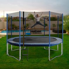 10 x 15 Oval Trampoline with the lot Rectangle Trampoline, Trampolines, Things That Bounce, Safety, Backyard, Shapes, Spring, Design, Security Guard