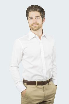 Classic and elegant slim fit dress shirt; every man's staple.
