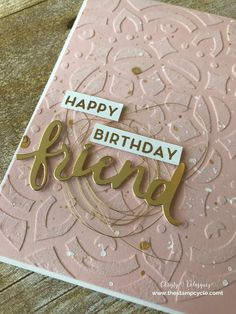 Stampin Up 2017 Annual Catalog: Embossing Paste with Glitter and Reinkers - The Stamp Cycle