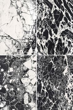Texture: Black and white Marble Arte Yin Yang, Art Grunge, Black And White Marble, Black Art, Pattern Images, Art Graphique, Texture Design, Textures Patterns, Organic Patterns