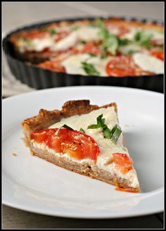 Brunch Recipe: Tomato Tart | via Nicole Morrissey, MS, RD, LD
