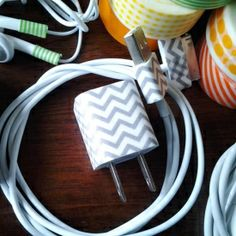 Create labels and looks with Washi Tape! Find YOUR cords, chargers, etc with FUNctional looks!