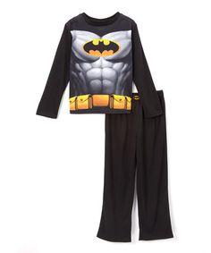 Black Batman Cape Pajama Set - Toddler #zulily #zulilyfinds