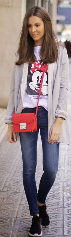 Minnie Tee Outfit by BCN Fashionista
