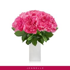 "Hot Pink Garden Roses Jeanelle are magnificent aromatic and will bring that touch and scented to romance to any bouquet and setting!  Often referred to as ""the romantic wedding rose"", its nostalgic shape will create a striking statement and it looks like peonies!  Features: ✿ 40cm-50cm Stem length Single bloom ✿ Approx. bloom size: 5 cm / 2 in ✿ Gift Messaging Available At Checkout ✿ All varieties have different shapes (please, see the picture of the open process     for the best selection). Hot Pink Flowers, Fresh Flowers, Pink Garden, Garden Roses, Fragrant Roses, Wholesale Roses, English Roses, Rose Wedding, Peonies"