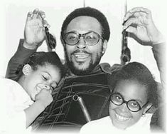 Photo of Marvin With His Daughters for fans of Marvin Gaye 40722526 Black Fathers, Fathers Love, We Are Family, Family Love, Music Icon, Soul Music, Black Love, Black Men, Black Style