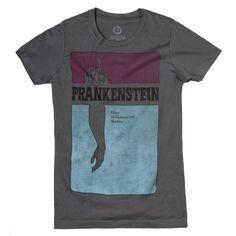 Frankenstein womens literary t-shirt | Frankenstein