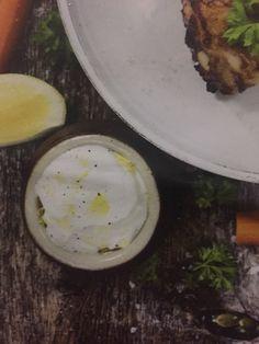1 kermaviili, 1 sitruunan raastettu kuori, suolaa, mustapippuria Eggs, Breakfast, Food, Morning Coffee, Essen, Egg, Meals, Yemek, Egg As Food