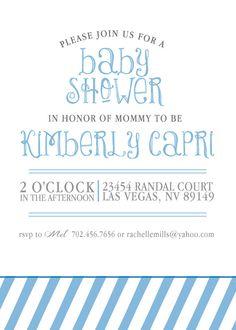 Baby Shower InvitationDigital File by KLacapra on Etsy, $15.00