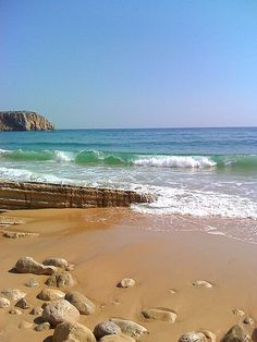 Sagres Beach, Algarve,Portugal-a popular surfing destination. Places Around The World, The Places Youll Go, Places To See, Around The Worlds, Playa Beach, Beach Fun, Best Beaches In Europe, Portuguese Culture, Beautiful Beaches