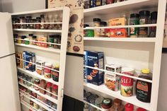 She wanted more kitchen storage without remodeling. First she measures her fridge, but then she does this!
