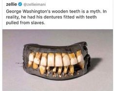 This country was both stolen from and built on the backs of POC. Weird Facts, Fun Facts, Black History Facts, Social Change, The More You Know, Faith In Humanity, Just In Case, George Washington Teeth, Equality