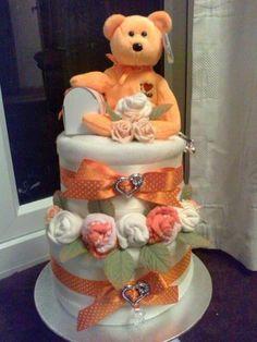 nappy cake created by Bonniebitz UK