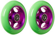 Metal Core 100mm Pro Scooter 2 Wheels with Abec 11 Bearings Installed Razor gpp1 Green on Purple MADE IN USA Model * For more information, visit image link.