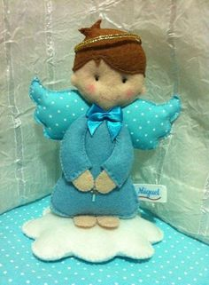 see following pattern for blue felt angel
