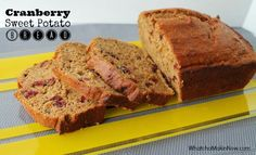 Cranberry Sweet Potato Bread - lovely flavor combo - could sub the sweet potato for pumpkin too!