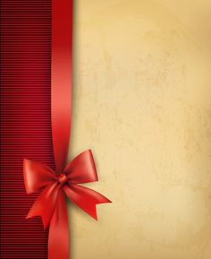 Paper with ribbon backgrounds 01 vector